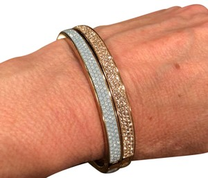 Henri Bendel two skinny Rox rose gold bangles