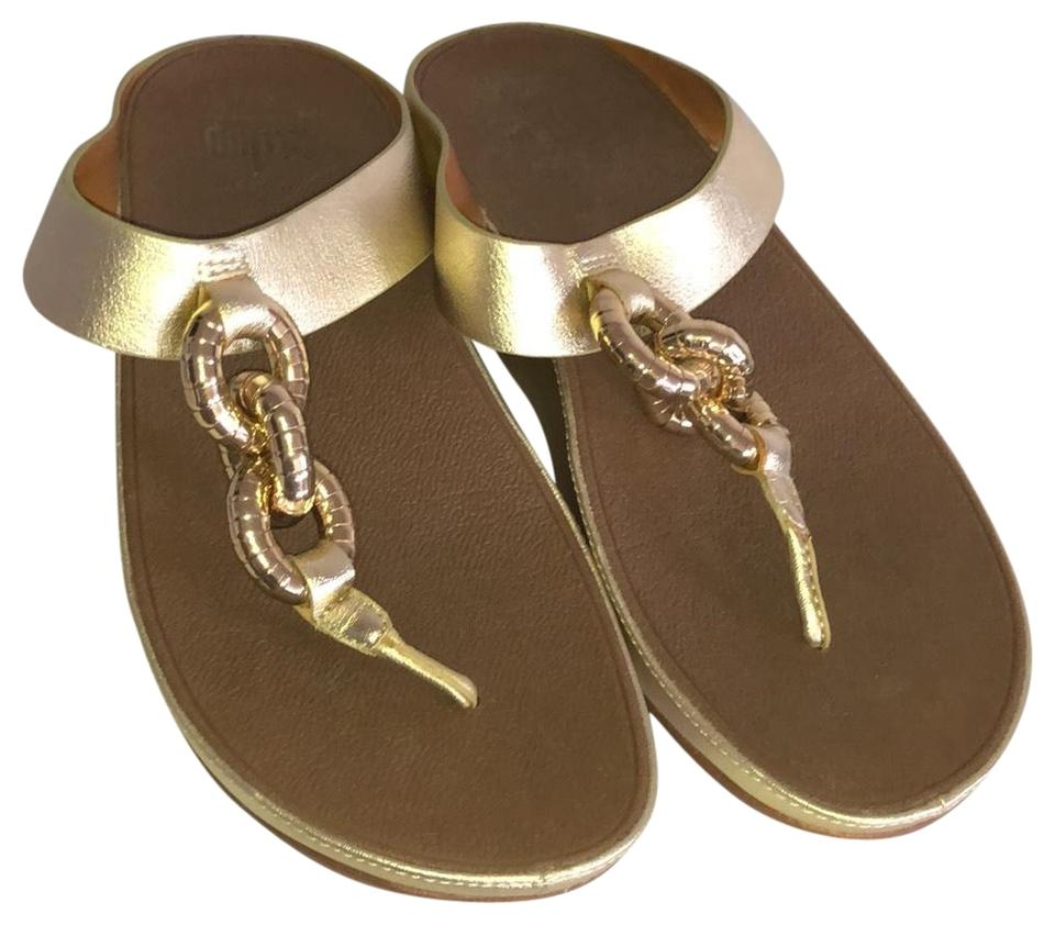 b12f66f6c30fb7 FitFlop Gold B26-010 Sandals Size US 6 Regular (M