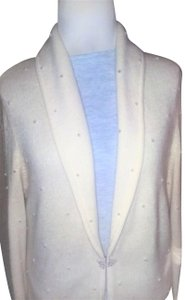 Jones New York Pearl Silver Hardware Dryclean Only Cardigan