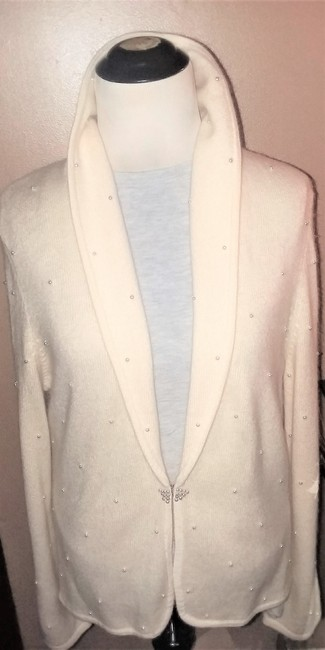 Jones New York Pearl Silver Hardware Dryclean Only Cardigan Image 1