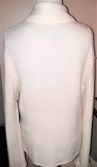 Jones New York Pearl Silver Hardware Dryclean Only Cardigan Image 2