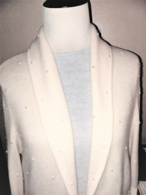 Jones New York Pearl Silver Hardware Dryclean Only Cardigan Image 3