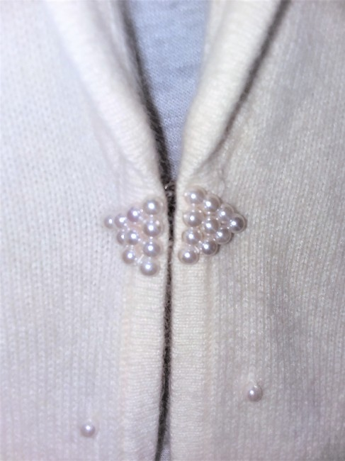 Jones New York Pearl Silver Hardware Dryclean Only Cardigan Image 6