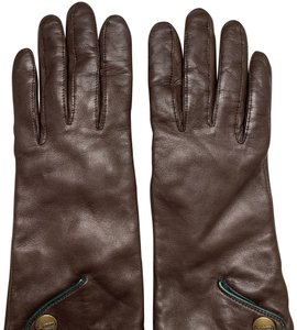 Coach 1941 Coach Brown Leather Gloves