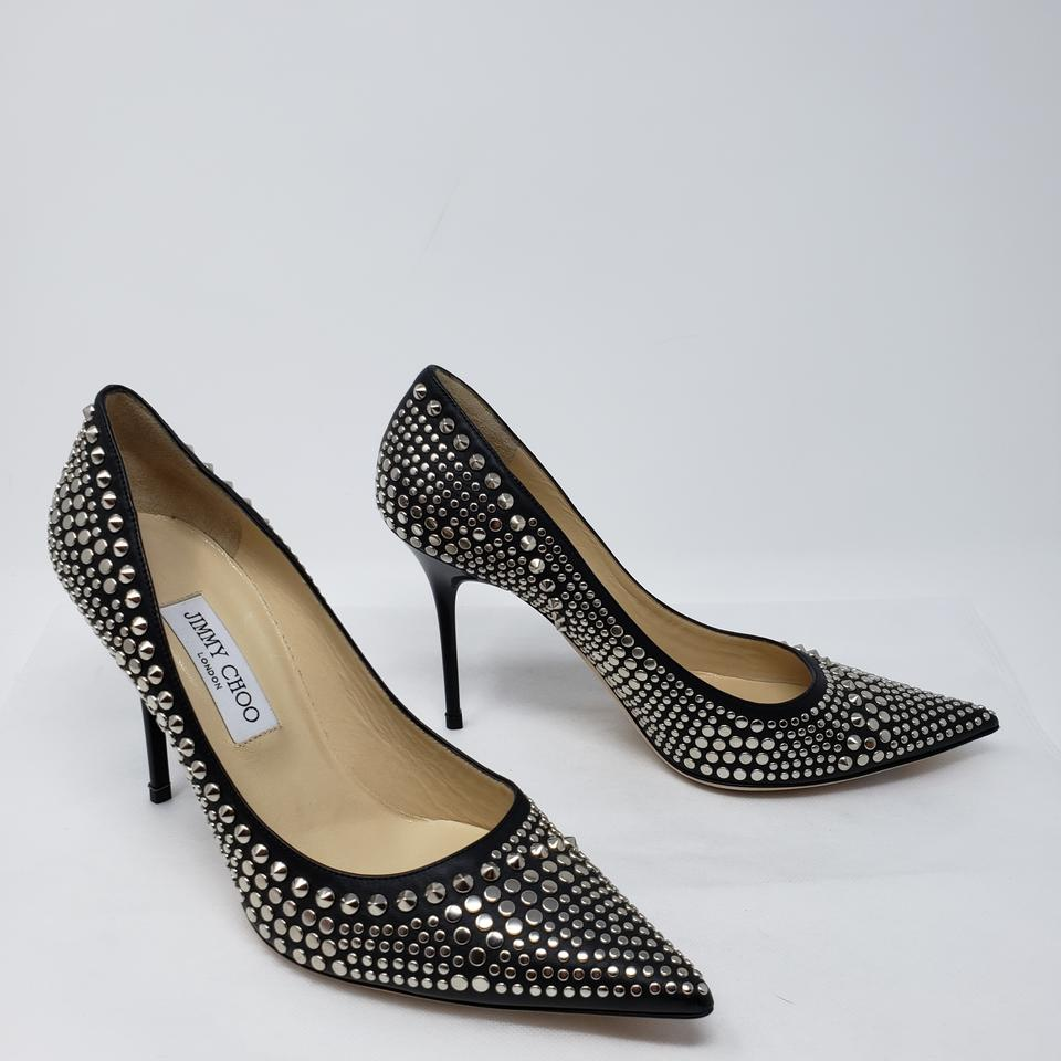 417755236a5a Jimmy Choo Black Leather Studded Pointed-toe Pumps Size EU 40.5 (Approx. US  10.5) Regular (M