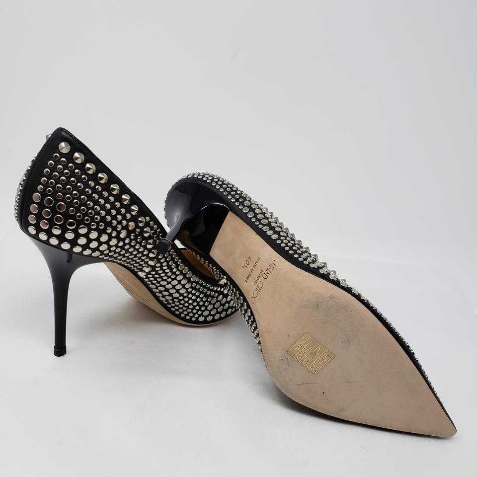 fdced8eba58a Jimmy Choo Studded Silver Hardware Pointed Toe Abel Anouk Black Pumps Image  11. 123456789101112