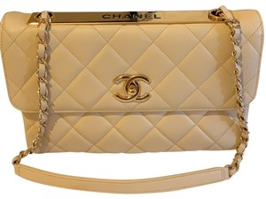 3634bdc98bf3 Added to Shopping Bag. Chanel Shoulder Bag. Chanel Trendy Cc Cream Lambskin  Leather ...