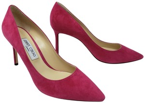 Jimmy Choo Anouk Suede Pointed Toe Abel Romy Pink Pumps