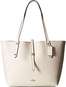 Coach Market F59093 Pebble Leather Tote in white