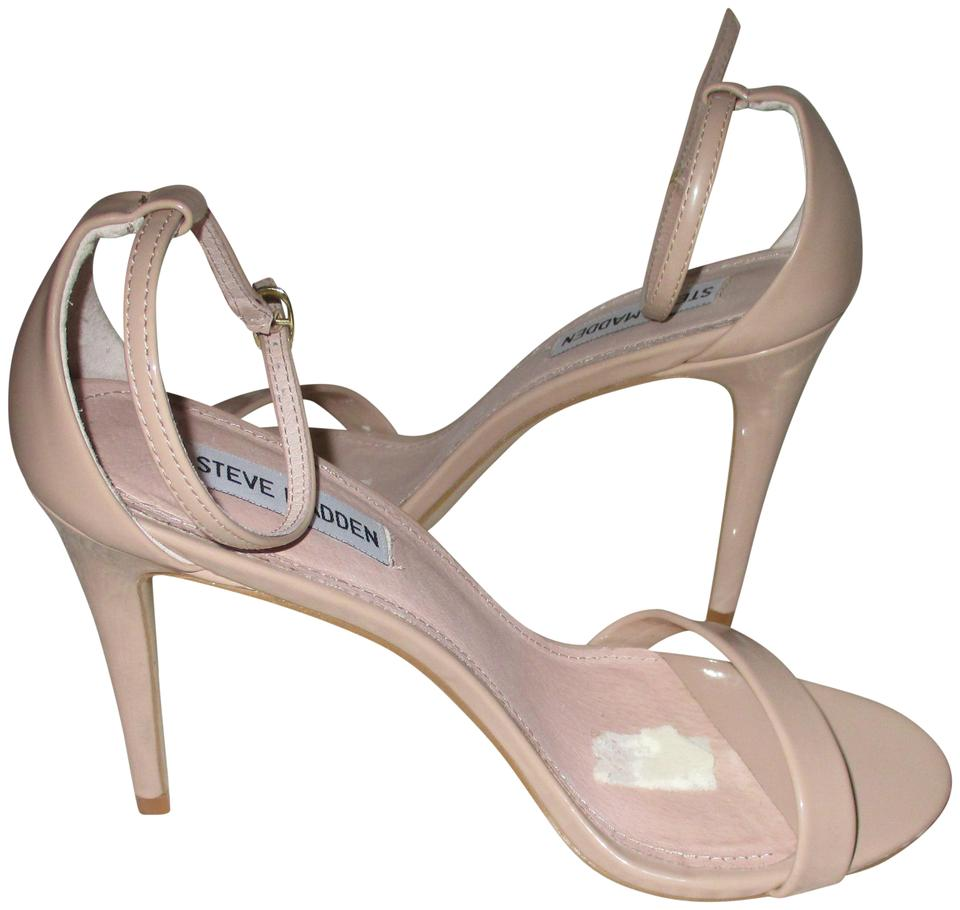c25aef0d9ce Steve Madden Nude Patent Leather Stacy Sandals Size US 9 Regular (M, B)