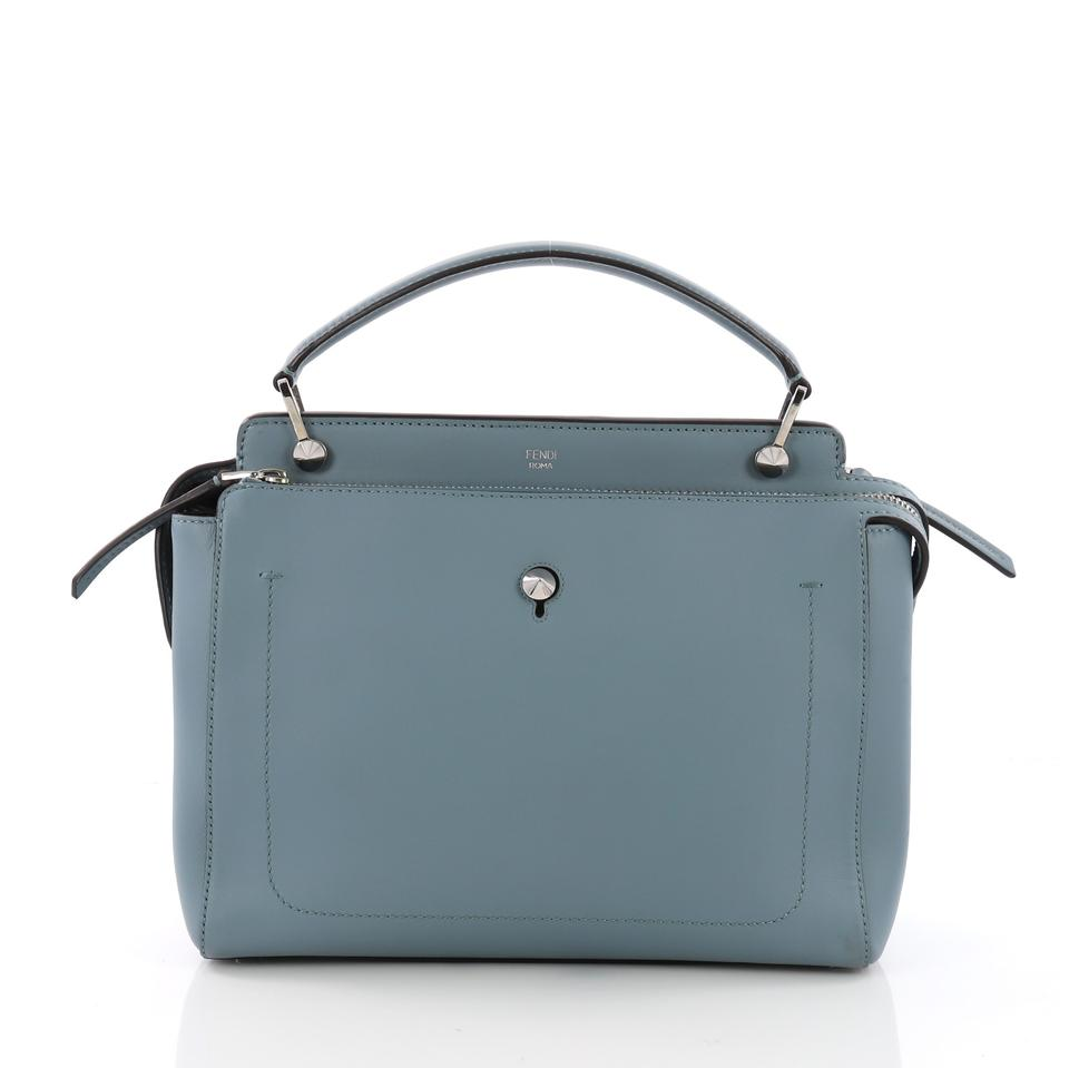 Fendi Dotcom Convertible Medium Blue Leather Satchel - Tradesy 49192f71b26b6
