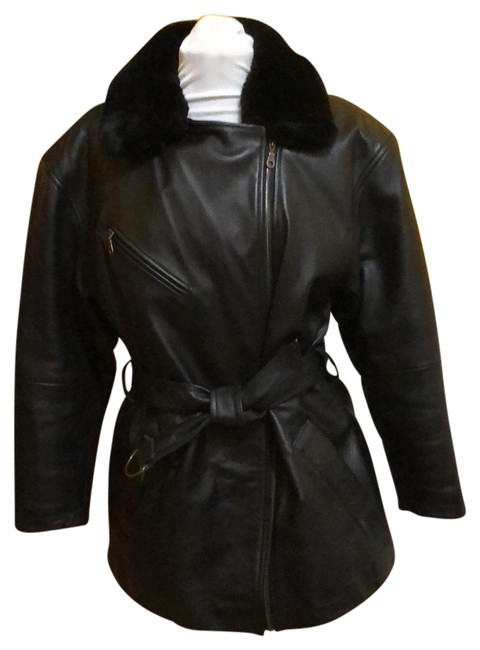 Preload https://img-static.tradesy.com/item/24440287/wilsons-leather-black-thinsulate-lined-jacket-coat-size-8-m-0-1-650-650.jpg