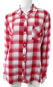 Rails Plaid Button Down Shirt Red & White