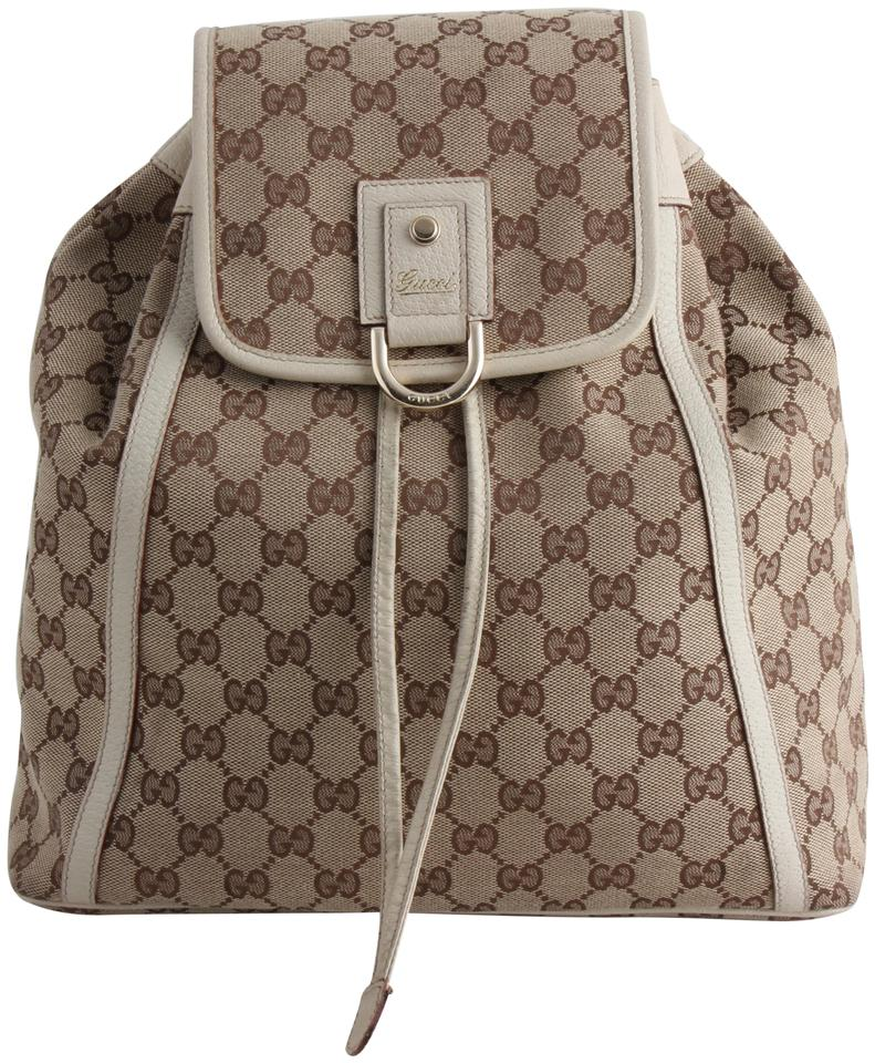 cccf1febf7f0cf Gucci Abbey Gg Monogram Brown Canvas Backpack - Tradesy