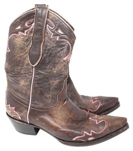 Old Gringo Western Brown & Pink Boots