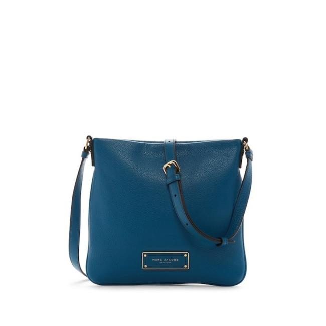 Marc by Marc Jacobs Too Hot To Handle Sia Leather Moraoccan Blue Mbmj Logo Jacquard Lining Cross Body Bag Marc by Marc Jacobs Too Hot To Handle Sia Leather Moraoccan Blue Mbmj Logo Jacquard Lining Cross Body Bag Image 1