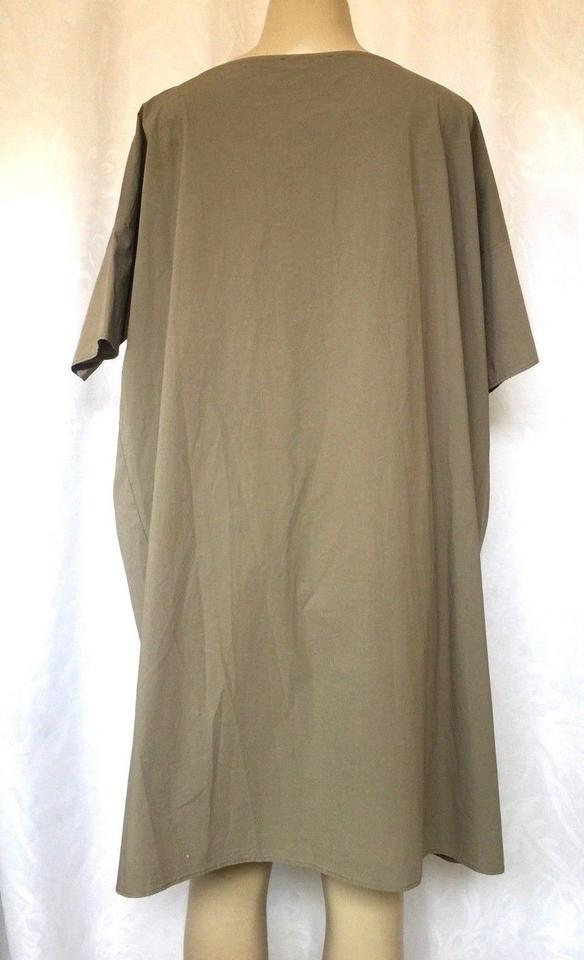 95fd1d986c Hache Gray Tunic Relaxed Fit Wide Loose Sleeve Olive Casual Maxi Dress