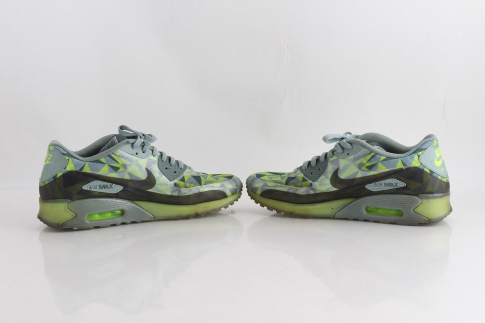 Details about Nike Air Max 90 US 4Y army green with lime green and camoflague gently used