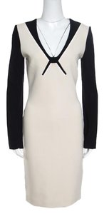 Roland Mouret Long Sleeve Viscose Wool Cotton Dress