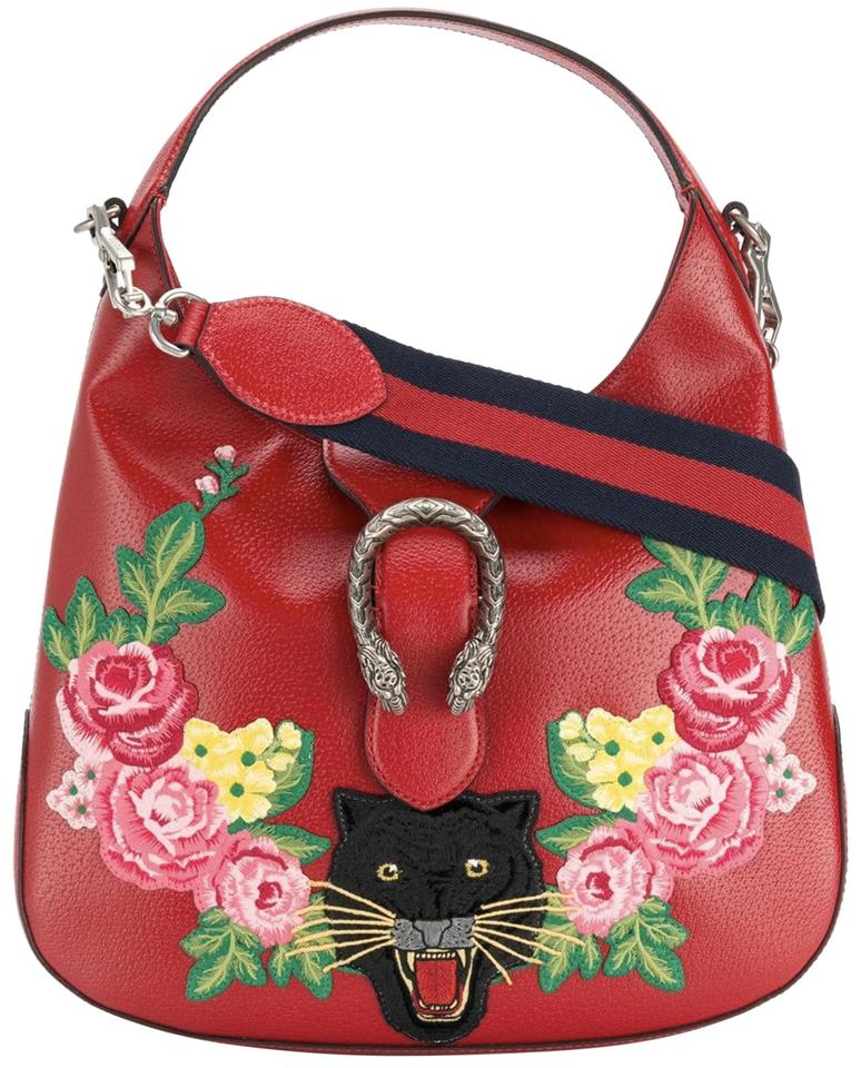 bb2f6b2f2e5ec7 Gucci Dionysus Hobo Red Leather Tote - Tradesy