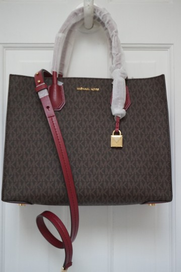 MICHAEL Michael Kors Tote in Brown & Mulberry Red Image 7