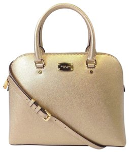 Michael Kors Leather 190049116043 Satchel in Pale Gold