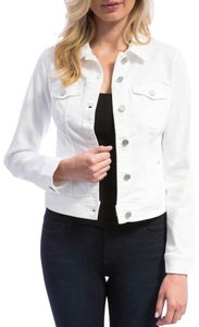 Liverpool Jeans Company White Womens Jean Jacket