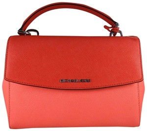 Michael Kors Leather 889154571334 Satchel in Coral