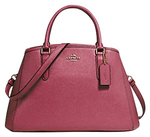 Coach Leather Margo Satchel in rouge pink