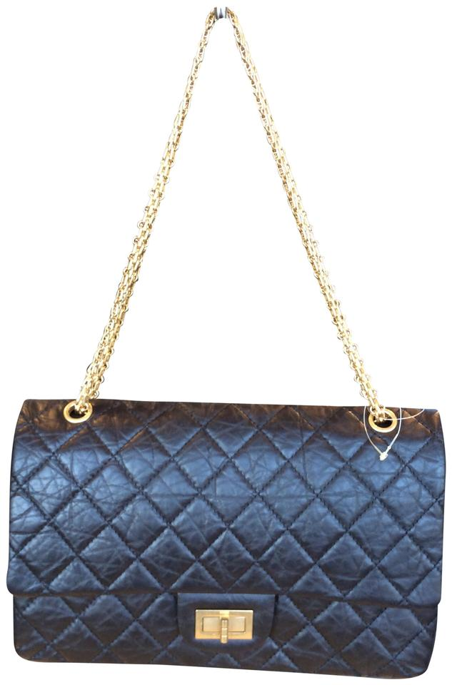 6ee5f3a565a6 Chanel Classic Flap 2.55 Reissue In 227 Size Black Calfskin Shoulder Bag