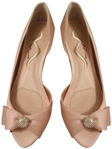 Nina Shoes Nude Bow Rhinestone Pink Peach Formal