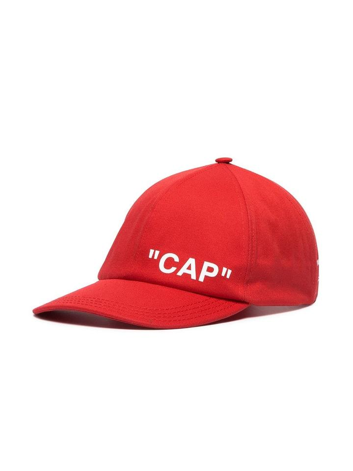 Off-White™ Red Baseball Cap Hat - Tradesy d7e953d462ed