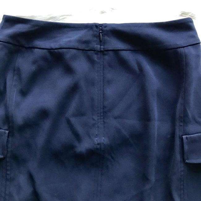 Laundry by Shelli Segal Navy Slit Suit Work Chic Skirt