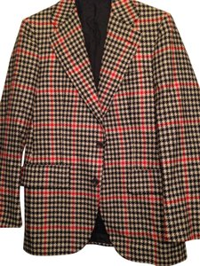 Burberry Vintage Checkered Red black white Blazer