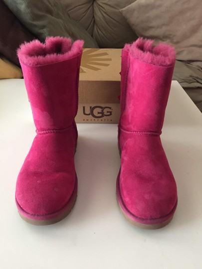 UGG Australia Bailey Bow Pink Bailey Bow Red Violet Boots Image 1