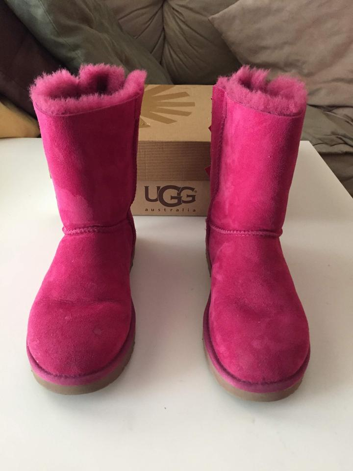 0d4ad03ee7b UGG Australia Red Violet Bailey Bow Boots/Booties Size US 7 Regular (M, B)  58% off retail