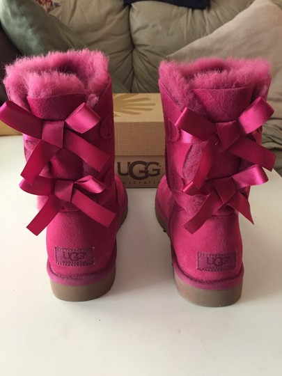 UGG Australia Bailey Bow Pink Bailey Bow Red Violet Boots Image 2