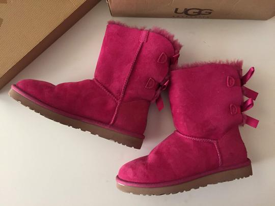 UGG Australia Bailey Bow Pink Bailey Bow Red Violet Boots Image 3
