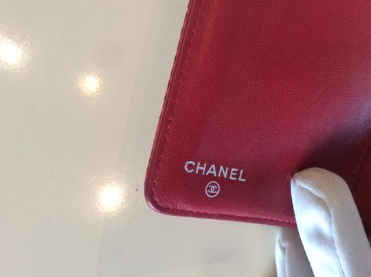 Chanel Cc Logo Lizard red bifold Wallet Image 3