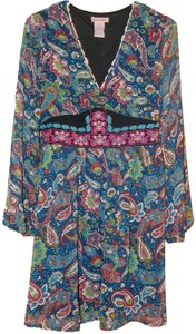 Flying Tomato short dress Multicolor Embroidery Paisley Print V-neck Adjustable Waist on Tradesy