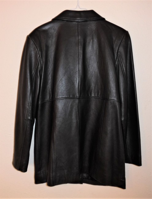 Valerie Stevens Coat Lamb Skin Buttoned New Leather Jacket