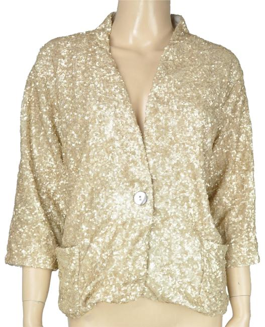 Aryn K Sequin Jacket Gold Blazer Image 0