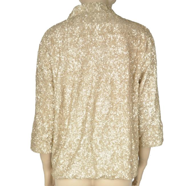 Aryn K Sequin Jacket Gold Blazer Image 1