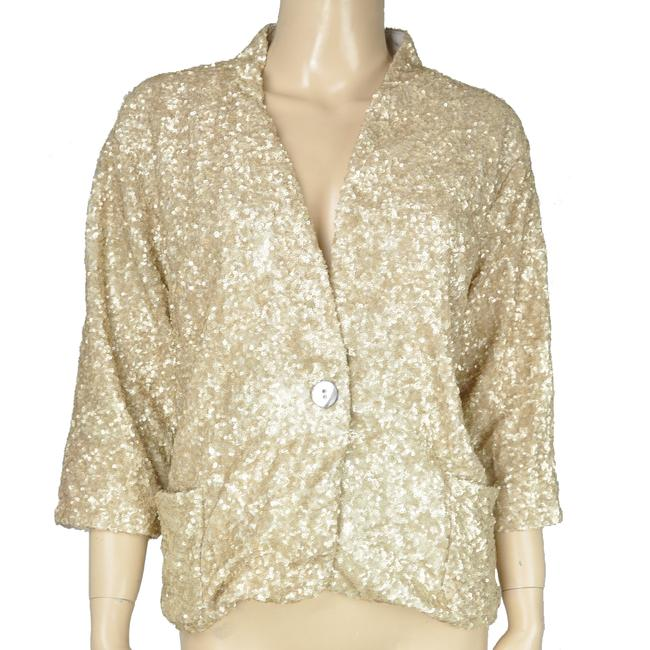Aryn K Sequin Jacket Gold Blazer Image 2