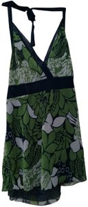 New York & Company Blue & Green Floral Halter Top