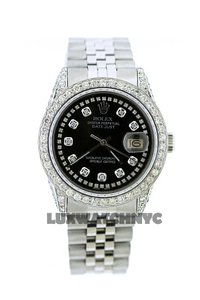 Rolex 4ct 36mm Datejust S/S with Box&appraisal Watch