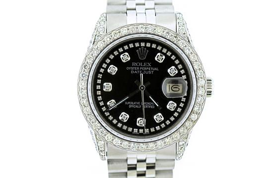 Rolex 4ct 36mm Datejust S/S with Box&appraisal Watch Image 1