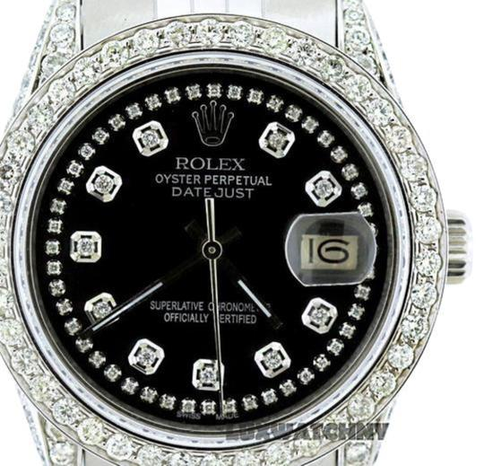 Rolex 4ct 36mm Datejust S/S with Box&appraisal Watch Image 2