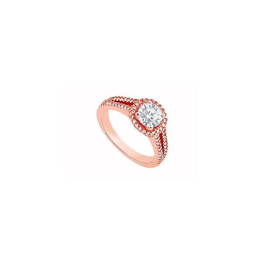 Preload https://img-static.tradesy.com/item/24442333/white-split-shank-engagement-with-czs-in-14k-rose-gold-vermeil-100-ct-ring-0-0-540-540.jpg