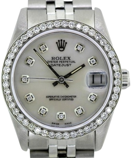 Preload https://img-static.tradesy.com/item/24442338/rolex-white-mother-of-pearl-2ct-36mm-datejust-ss-w-box-and-appraisal-watch-0-1-540-540.jpg